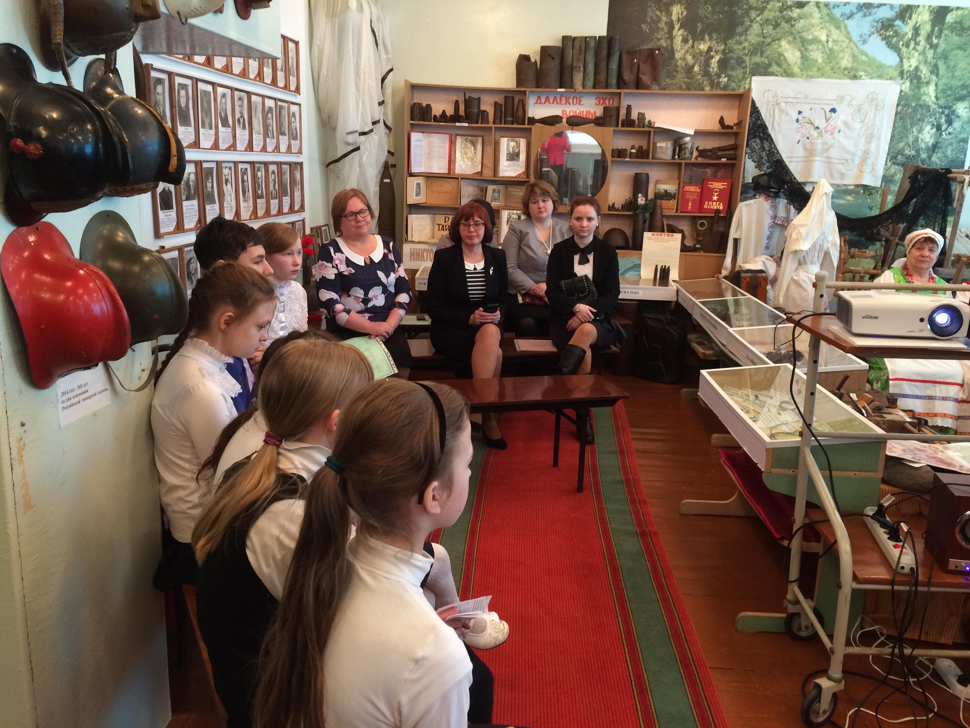 Актив музея, гости школы